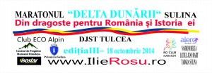 BANNER - MARATON SULINA - 1,0 x 3,0 m - 13 octombrie 2014